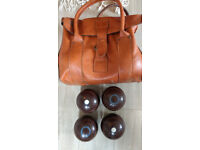 Taylor Lawn Bowls set, used, size 1 with bag