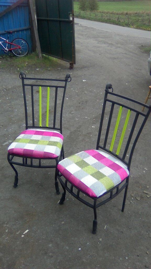 Pair of beautiful wrought iron styled chairs