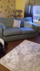 Blue fabric sofa