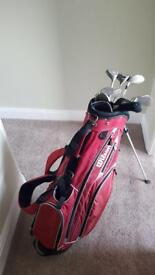 Wilson prestige midsize irons golf clubs and bag.