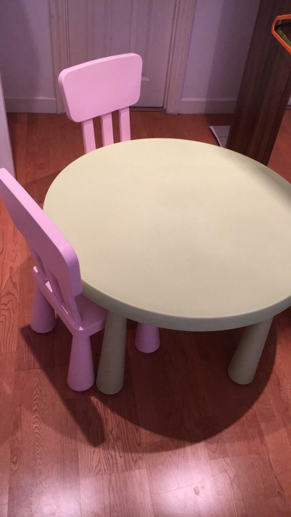 IKEA kids table and two chairs