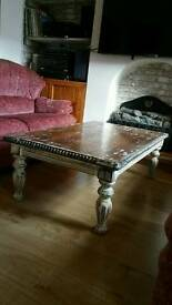 Solid wood Rustic antique lookCoffee table