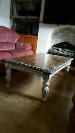 Solid wood Rustic antique lookCoffee table