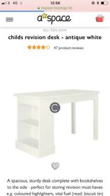ASPACE revision desk antique white rrp £300