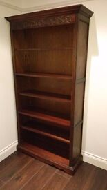 Old Charm Oak Furniture - Bookcase / Shelves - OPEN TO SENSIBLE OFFERS