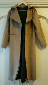 Boohoo faux suede duster coat