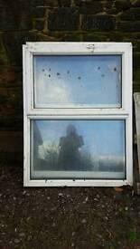 Two double glazed PVC windows 137x106cm