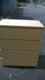 Large Ikea four drawer chest in great condition