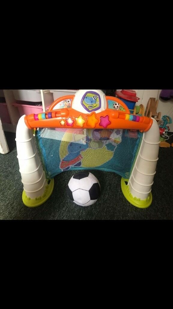 Football goal and ballin Southside, GlasgowGumtree - This is a Chicco Musical goal cheers with each goal .soft foot ball included
