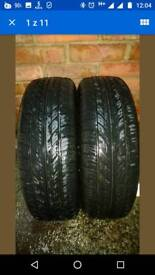 2 X 175 65 R14 CORSA WHEELS, 7 MM TREAD, 1 YEAR OLD, VERY GOOD CONDITION+TRIMS