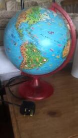 World globe light lamp