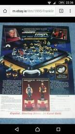 Very rare collectable Franklin mint star trek chesst set