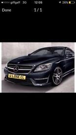 Merc Mercedes private plate cl63 6.3 amg clk cls