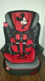 Disney mickey mouse high back booster car seat with harness