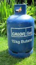 CALOR GAS BOTTLE, 15KG BUTANE, ALMOST FULL