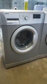 SILVER BEKO 6KG 1400 SPIN WASHING MACHINE WITH 3 MONTHS GUARANTEE