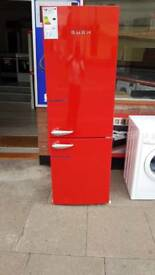 New graded red retro style fridge freezer only £249
