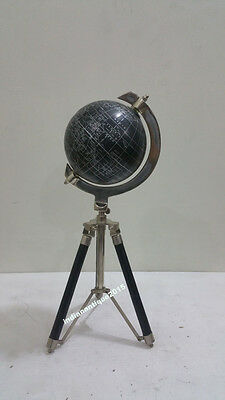 Contemporary World Table Decor Globe with Tripod Stand Nautical  Globe