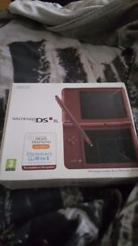 Nintendo dsi xl boxed with games