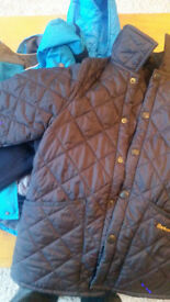 Children coat bundle- FIVE coats Barbour, Tresspass and more