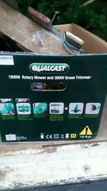 Qualcast package mower and strimmer.