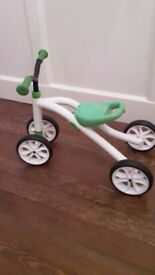 Trike Chillafish Quadie, Grow-with-Me 4 Wheeler ride on, Green and White