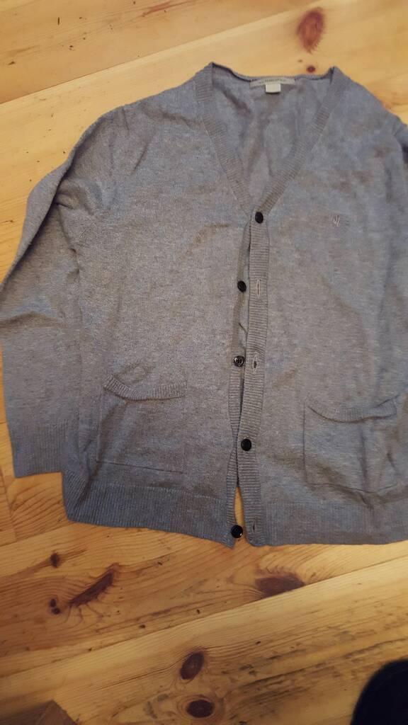 Boys Burberry gray cardigan