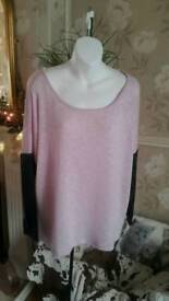 Pink top size m
