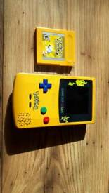Pokemon game boy colour with Pokemon yellow in great working condition