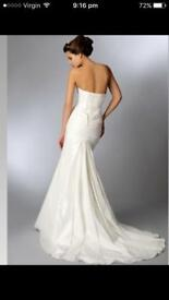 Trudy lee strapless wedding dress