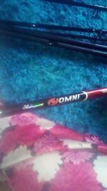 Carp fishing rod and reel