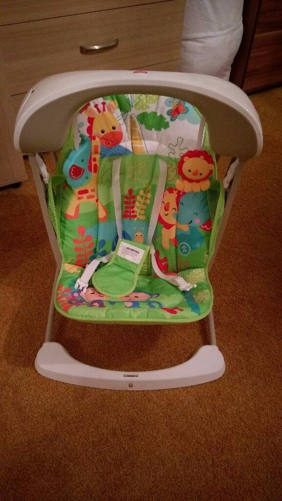 Fisher Price Rainforest Vibrating Swing Rocking Baby Bouncer Chair
