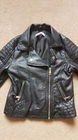 M&S Girls (7-8 years) Faux Leather Jacket - Excellent condition