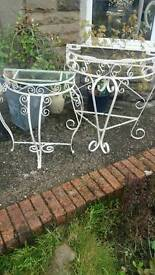 Vintage wrought iron tables Now £35