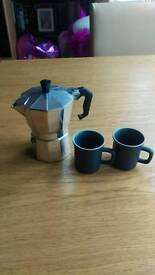 Espresso set with cups