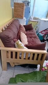 For sale, double futon, chocolate brown colour. Hardly used, £150 ONO