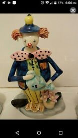 Ceramic hand made hand painted clown