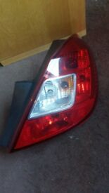 Vauxhall Corsa D 2006-2014 nearside driver side rear light 5 door