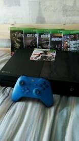 Xbox One - 6 Games, and Blue Controller