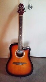 Guvnor Electro Acoustic Guitar (Full Size) - Good condition