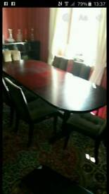 Macintosh 6 seater table and chairs