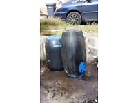 2x water butts
