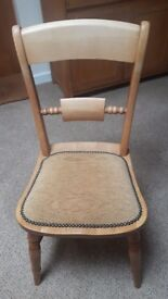 Hardwood dining chairs with padded seat