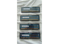 16 GB (4x4) of 1600 MHz Registered DIMMs