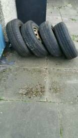 Set of four wheels for sale