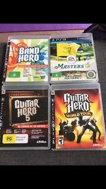 PS3 Guitar hero - guitars, drums, microphones etc incl games
