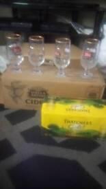 Stella Artois Cidre glasses