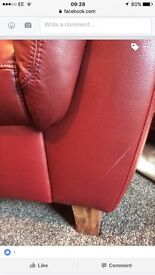 Real leather sofa RED 2 & 3 seater