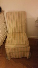 FREE Lovely vintage small armless chair with removable cover