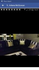 Corner sofa and cuddle 2seater chair
